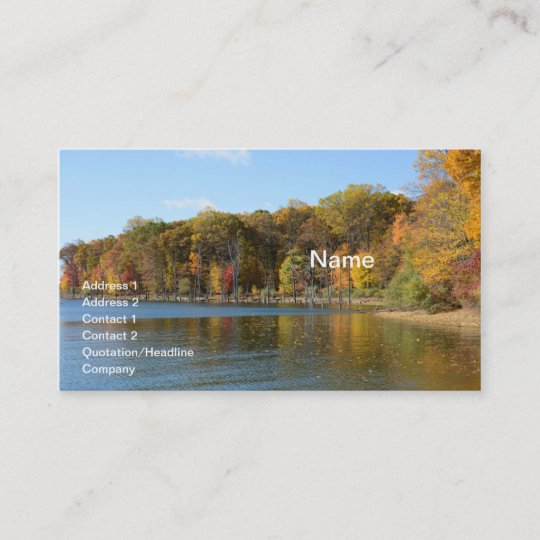 merrill creek reservoir in washington new jersey business card - Merrill Business Cards