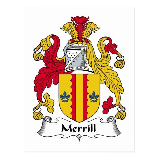 Merrill Family Crest Postcard