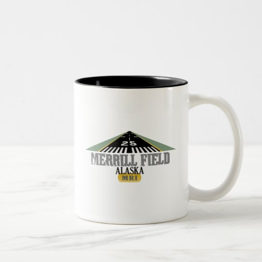 Merrill Field Alaska - Airport Runway Two-Tone Coffee Mug