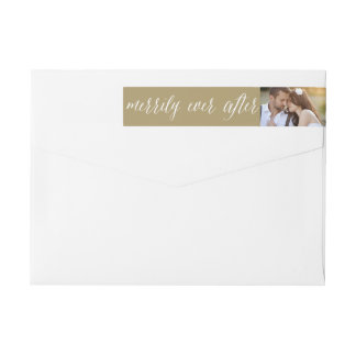 Merrily Ever After Christmas Photo Address Labels
