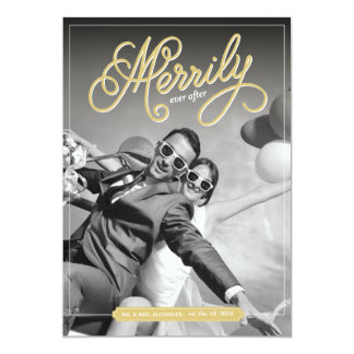 Merrily Ever After First Christmas Holiday Card