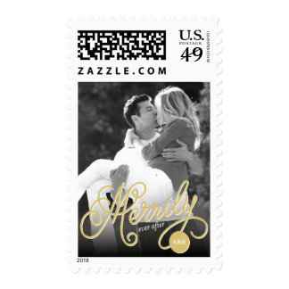 Merrily Ever After First Christmas Holiday Stamps