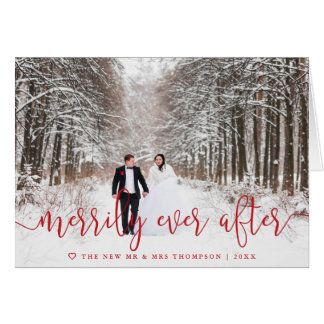 Merrily Ever After   Folded Holiday Card