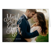 Merrily Ever After Full Photo Holiday | Thank You Card