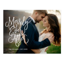 Merrily Ever After Full Photo Holiday | Thank You Postcard