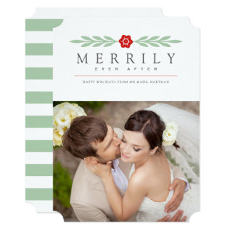 Merrily Ever After Holiday Photo Card