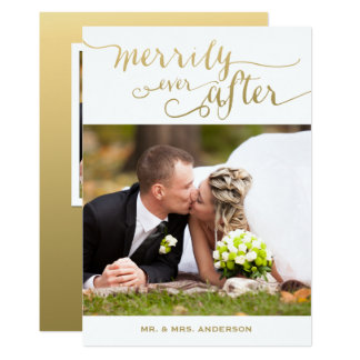 Merrily Ever After Married | Holiday Photo Card