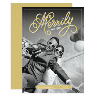 Merrily Ever After Our First Christmas Photo Card