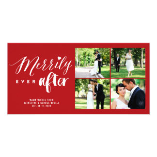 Merrily Ever After Photo Collage Christmas Card