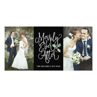 Merrily Ever After Wedding Holiday 2- Photo Black Card