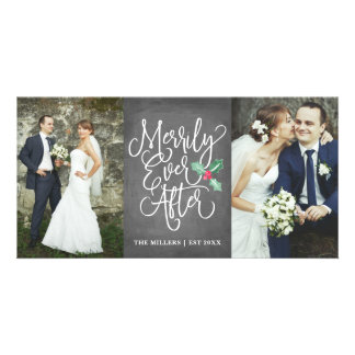 Merrily Ever After Wedding Holiday 2- Photo Grey Card