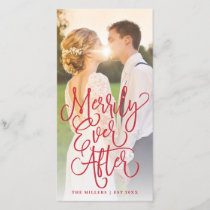 Merrily Ever After Wedding Holiday Full Photo Red
