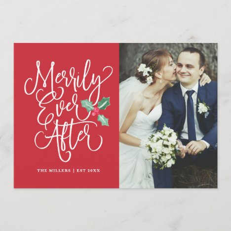 Merrily Ever After Wedding Holiday Photo