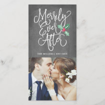 Merrily Ever After Wedding Holiday Photo | Grey