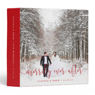 Merrily Ever After | Wedding Photo Album 3 Ring Binder