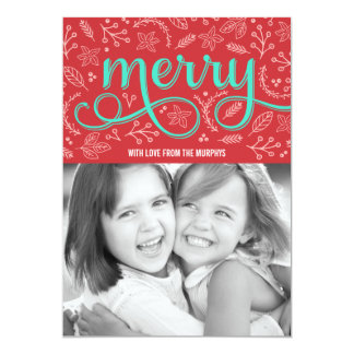 Merrily Illustrated Holiday Photo Cards