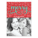 Merrily Illustrated Holiday Photo Cards Custom Invites