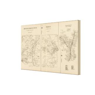 Merrimack, Litchfield, Wilton, Peterborough PO Lienzo Envuelto Para Galerías