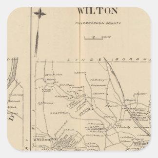 Merrimack, Litchfield, Wilton, Peterborough PO Pegatina Cuadrada