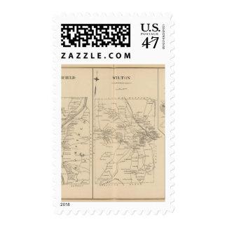 Merrimack, Litchfield, Wilton, Peterborough PO Timbre Postal