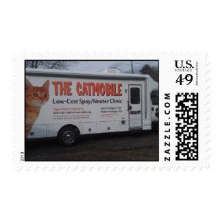 Merrimack River Feline Rescue Society Catmobile Postage