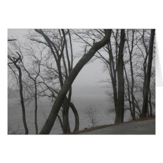 Merrimack River on a Foggy Day Card