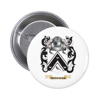 Merriman- England Coat of Arms Family Crest Pinback Buttons