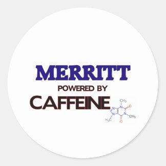 Merritt accionó por el cafeína etiqueta redonda