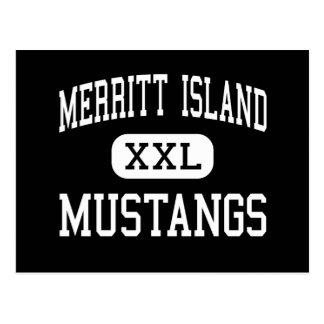 Merritt Island - Mustangs - High - Merritt Island Postcard