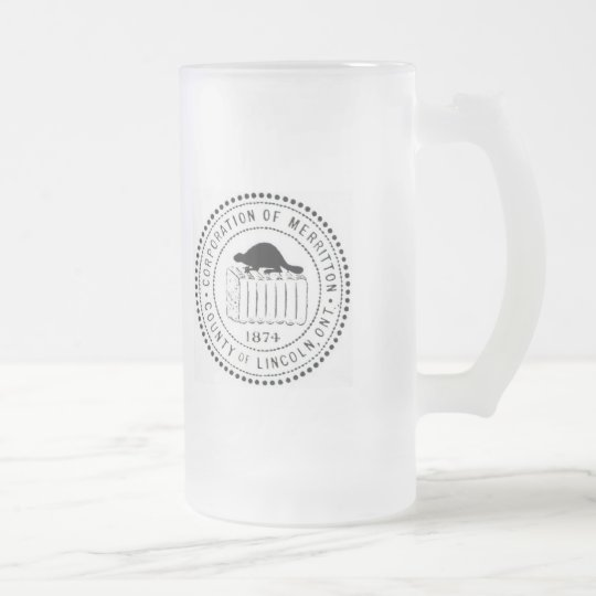 MERRITTON FROSTED GLASS BEER MUG