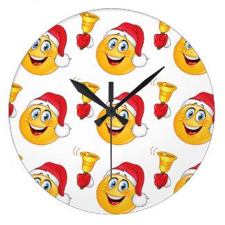 MERRRRRY CHRISTMAS WITH SANTA EMOJI CLOCK