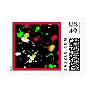 Merry 80's Party Postage Stamps