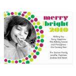 Merry and Bright 2010 Holiday Photo Postcard