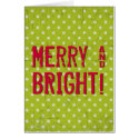 Merry and BRIGHT Christmas Holiday Greeting Card