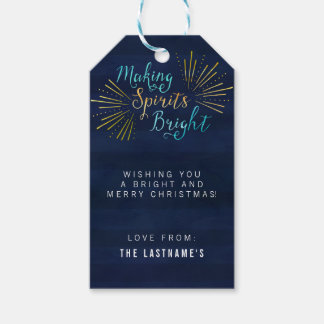 Merry and Bright Christmas Pack Of Gift Tags