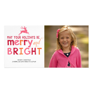 Merry and Bright Christmas Personalized Photo Card