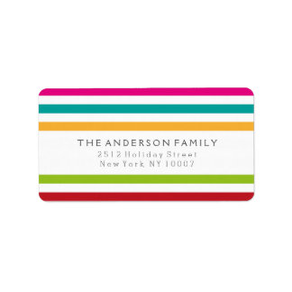 Merry and Bright colorful address labels