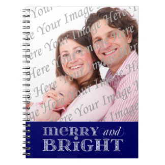 Merry and Bright Custom Holiday Photo Notebook
