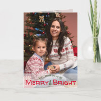 Merry and Bright Custom Photo Modern Holiday