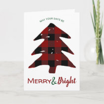Merry and Bright Custom Photo Simple Modern Holiday Card
