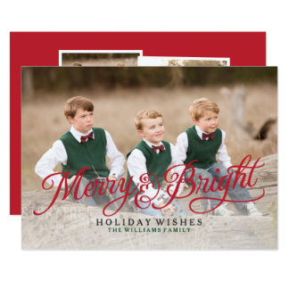 Merry and Bright Holiday Cards | Photo Collage