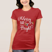 merry and bright holiday lights T-Shirt