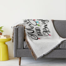 merry and bright holiday lights throw blanket