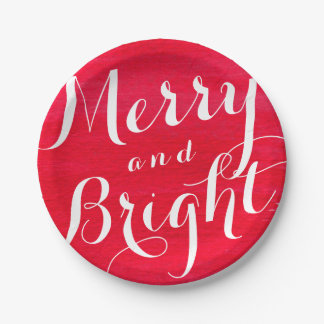 Merry and Bright Holiday Paper Plates