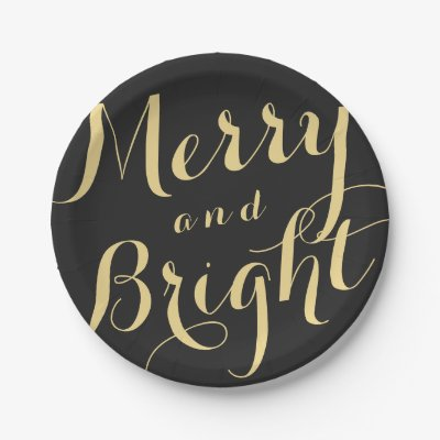 sc 1 st  Zazzle & merry and bright Christmas Holiday Paper Plate   Zazzle.com