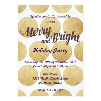 Merry and Bright Holiday Party Invitation