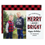 Merry And Bright | Holiday Photo Card at Zazzle