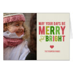 Merry and Bright Holiday Photo Card Greeting Cards