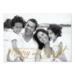 Merry and Bright | Holiday Photo Card Custom Invitations