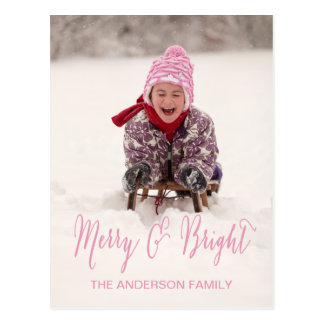 Merry and Bright | Holiday Photo Postcard